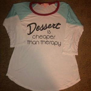 White Graphic Dessert Therapy T-Shirt X-Small